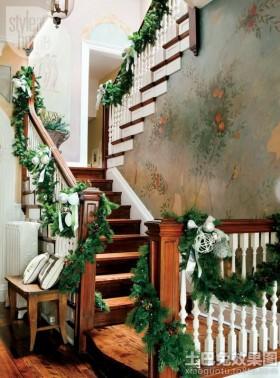 田园复式楼梯装修效果图