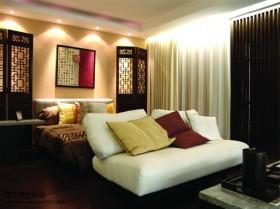 中式风格卧室床头挂画效果图片