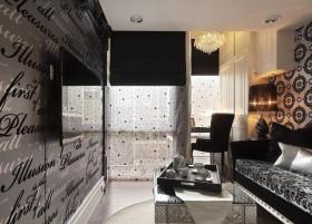 40平小户型单身公寓客厅电视背景墙效果图