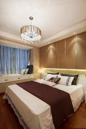 现代简约风格两室两厅卧室飘窗效果图