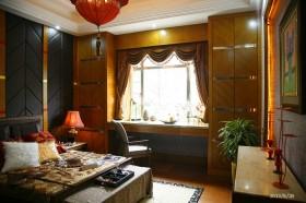 东南亚风格客厅飘窗效果图片