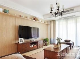 美式实木电视墙装修效果图大全2013图片