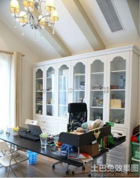 书房组合书柜装修效果图大全2013图片
