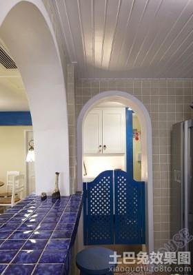地中海风格厨房门效果图欣赏