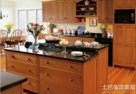 美式厨房大理石台面橱柜图片
