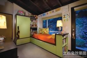 儿童房收纳凳装修效果图片