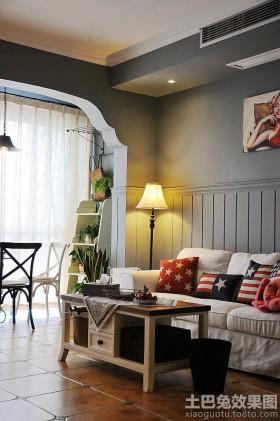美式风格客厅沙发靠垫贴图