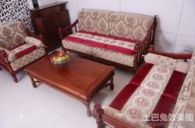 中式实木沙发坐垫