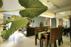 中式风格小户型餐厅装修效果图片欣赏