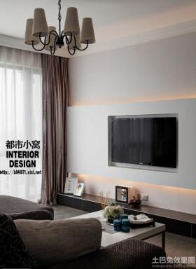 简约电视背景墙设计效果图