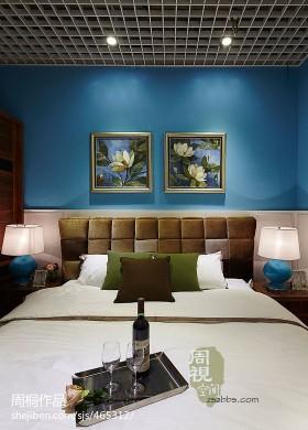 现代风格主卧室床头挂画背景墙效果图欣赏