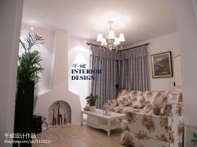 地中海风格小客厅装修效果图欣赏