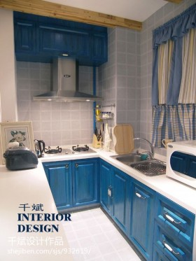U型小厨房装修效果图大全