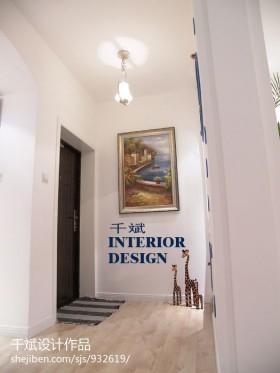 地中海风格过道挂画装饰图片