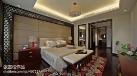 中式风格别墅卧室吊顶装修效果图大全