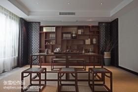 中式风格餐厅博古架装修设计效果图