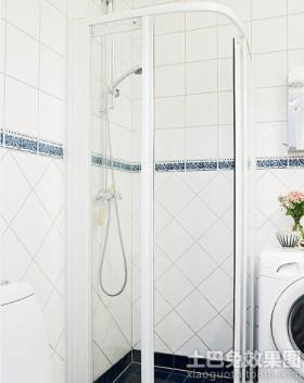 简约淋浴房隔断图片