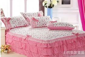 公主房床罩四件套图片