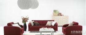 最新客厅红苹果布艺沙发图片欣赏