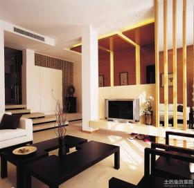 日式风格客厅电视背景墙效果图