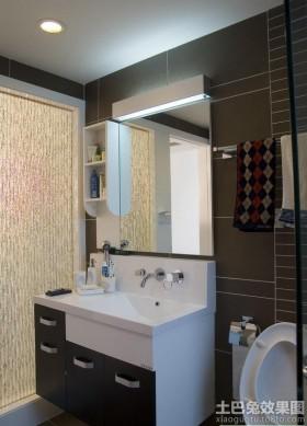 简约卫生间洗手台装修效果图片