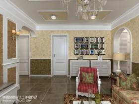 欧式田园风格照片墙装修效果图