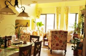 田园风格客厅餐厅一体效果图片
