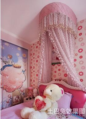 儿童房公主房床装修效果图大全2015图片
