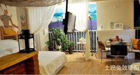 超小户型卧室餐厅一体装修效果图