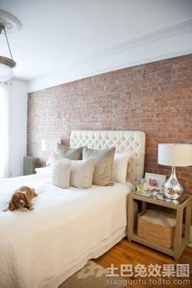 欧式风格卧室背景墙欧式田园文化砖卧室背景墙装修