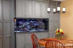 家装餐厅壁挂式鱼缸造景图片