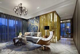 现代客厅创意沙发背墙效果图