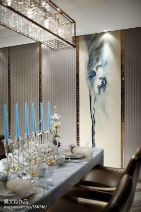 现代风格家庭装修餐厅餐桌图片