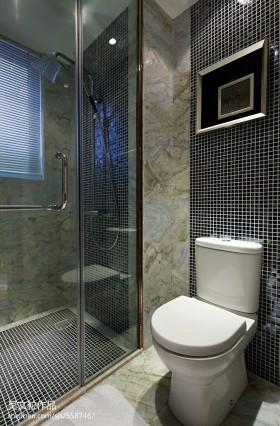 卫生间淋浴室玻璃门装修效果图