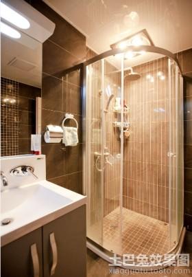 卫生间扇形淋浴隔断设计