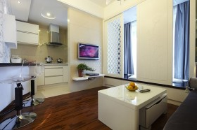 50平米小户型客厅电视机背景墙效果图片