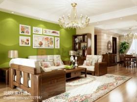 简约风格客厅沙发照片墙效果图