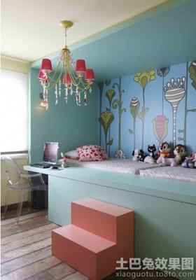 创意儿童房墙体彩绘效果图