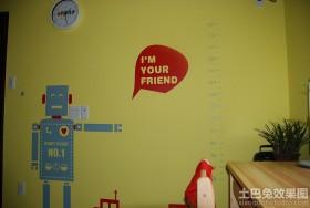 小户型儿童房墙体彩绘