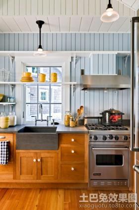 美式风格厨房电器装修效果图片