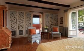 托斯卡纳风格别墅卧室效果图