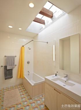 简约卫生间天窗装修效果图片