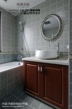 卫生间洗脸盆柜子设计效果图片