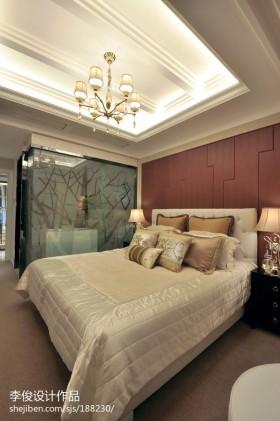 欧式风格卧室背景墙欧式主卧室装修效果图片大全2013