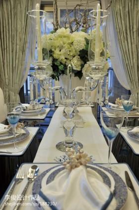 欧式餐厅餐桌布图片