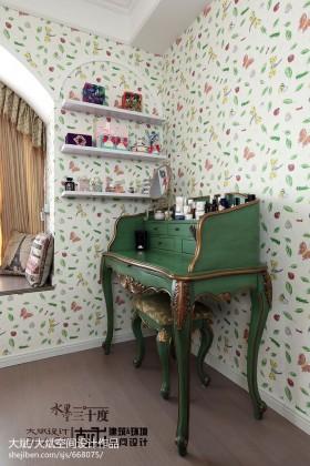 田园风格卧室梳妆台效果图片