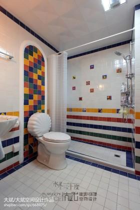 5平米主卫生间瓷砖效果图