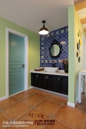田园洗手间装修效果图大全2013图片