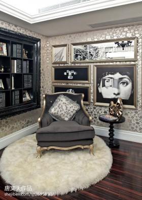 欧式现代别墅书房装修效果图大全2013图片