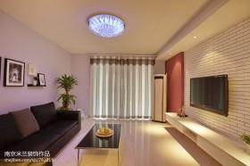 客厅文化砖电视背景墙装修设计效果图